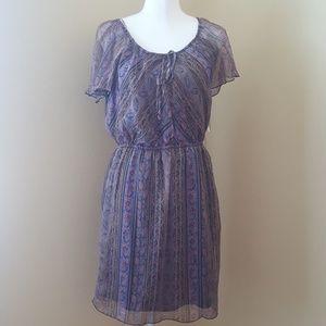 Forever 21 Black & Lavender Chiffon Dress